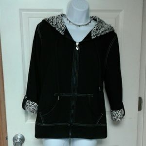 Silverwear L Hoodie with zipper and 3/4 sleeve